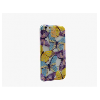 Butterfly case Samsung i8190 purple-yellow