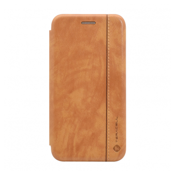 Teracell Leather iPhone XR svetlo braon.