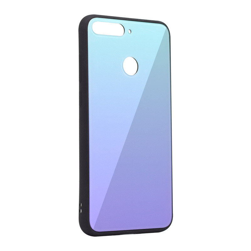 new style 31490 64553 Glass Mirror case Huawei Y6 Prime (2018)/Honor 7A plava