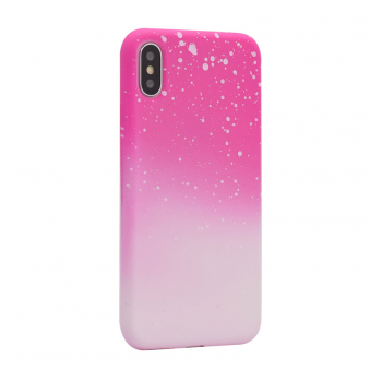 Maska Powder iPhone XS Max pink.