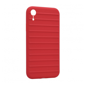 Ribbed case iPhone XR crvena
