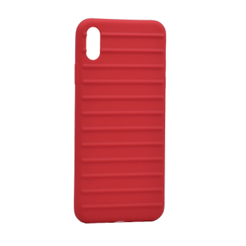 Ribbed case iPhone Xs Max crvena