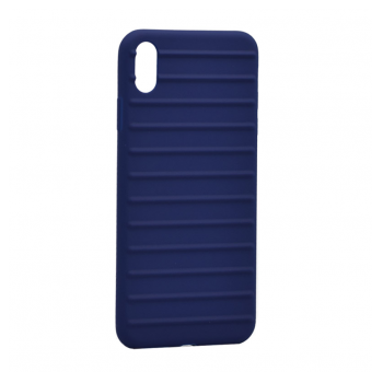 Ribbed case iPhone Xs Max plava