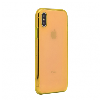 X-Clear Apple case iPhone X/XS zuta