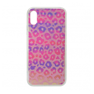 Hologram 3D Leopard iPhone XS Max roza