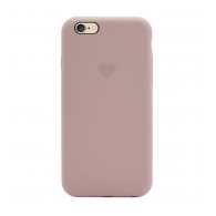 Heart case iPhone 6 sand pink