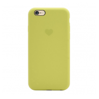Heart case iPhone 6 svetlo zuta