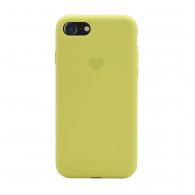 Heart case iPhone 7/8 svetlo zuta