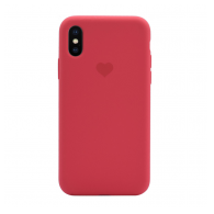 Heart case iPhone X/XS crvena