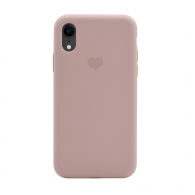 Heart case iPhone XR sand pink