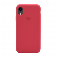 Heart case iPhone XR crvena