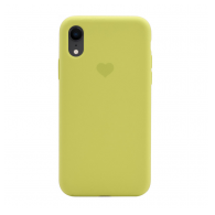 Heart case iPhone XR svetlo zuta