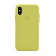 Heart case iPhone XS Max svetlo zuta