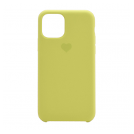 Heart case iPhone 11 svetlo zuta