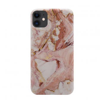 Maska Marble iPhone 11 pink