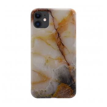 Maska Marble iPhone 11 zlatna