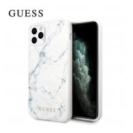 Maska Faceplate Marble GUESS iPhone 11 Pro bela